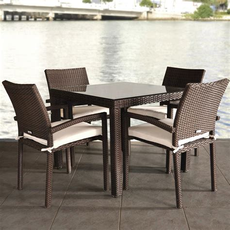 Atlantic Liberty 4 Person Resin Wicker Patio Dining Set Patio Wicker Dining Set