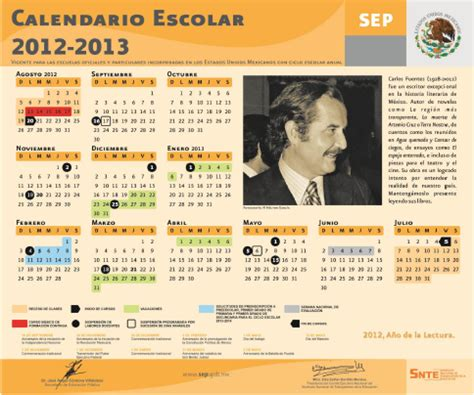 Calendario 2013 Mexico Calendario Escolar 2012 2013 M 233 Xico Para Imprimir Gratis