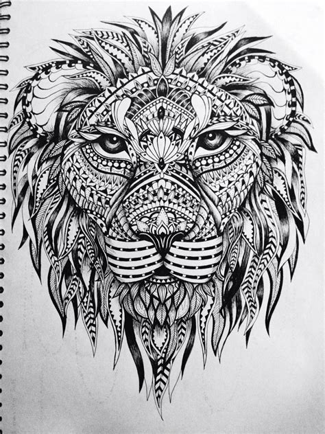 Zentangle Lion Zentangle Spiratie Pinterest | lion zentangle recruitment school spirit pinterest