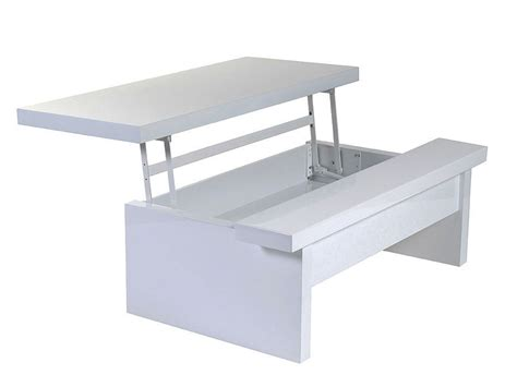 almavar coffee table in white lacquer contemporary