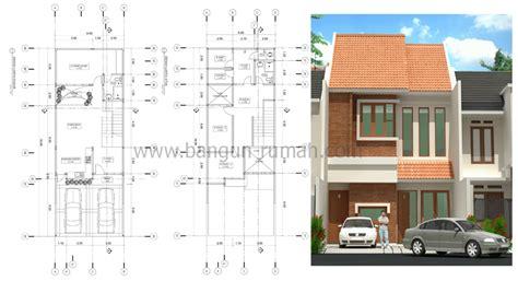 layout rumah lebar 10 meter desain rumah 2 lantai ukuran tanah 6 6 x 18 m2 desain