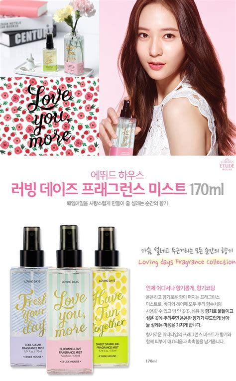 Etude House Loving Days Fragrance Mist testerkorea trend setter from korea