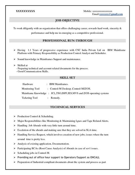 Database Architect Sle Resume by Sle Resume Mainframe Architect Sle Best Free Home Design Idea Inspiration