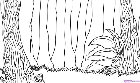 jungle scenery coloring pages how to draw a forest step by step landscapes landmarks