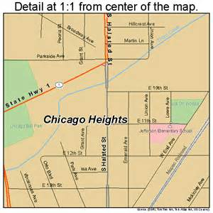 Chicago Heights Map chicago heights illinois street map 1714026