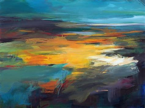 abstract landscapes quot stille wasser quot by ute laum abstract landscapes