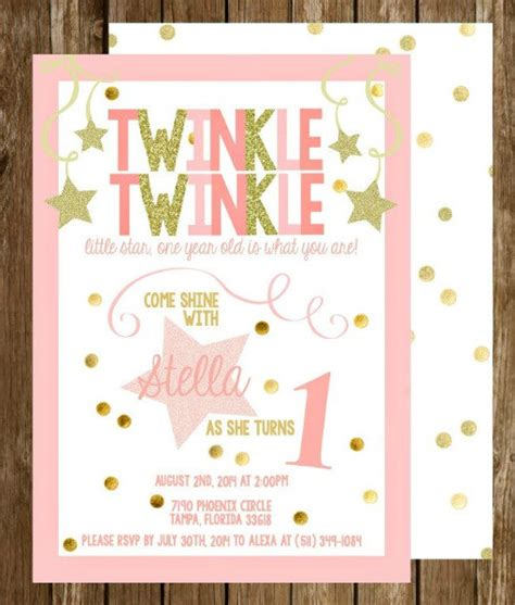 Twinkle Twinkle Card Templates To Print by Invitation Templates Twinkle Twinkle