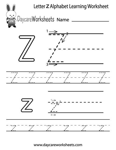 Printable Letter Z Worksheets | free printable letter z alphabet learning worksheet for