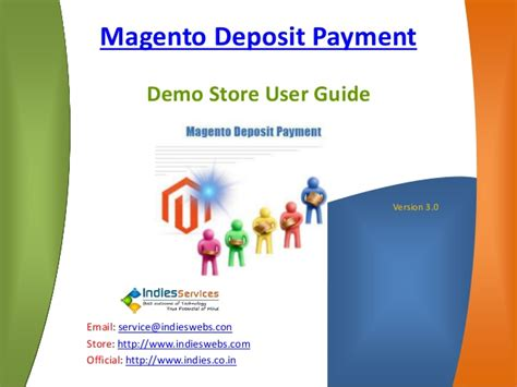 Magento Deposit Payment Demo User Guide