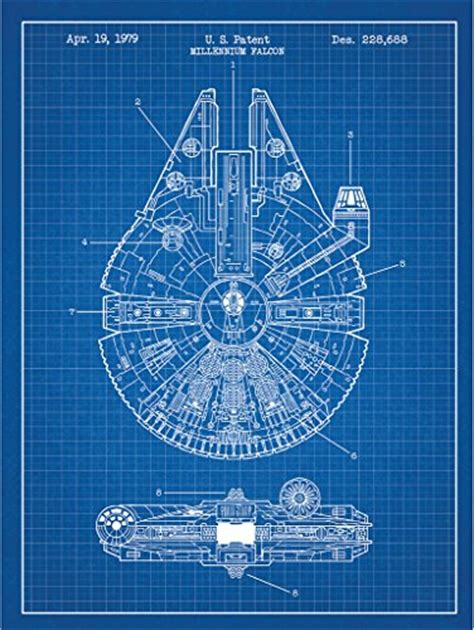printable death star plans millennium falcon posters wall art from star wars