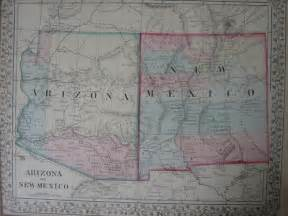 new mexico arizona map 1867 flickr photo