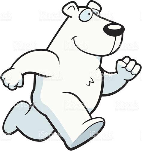 running bear coloring page polar bear running stock vector art 487526313 istock