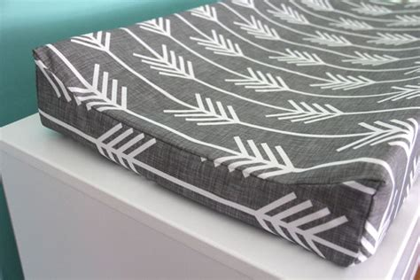 Charcoal Arrow Contoured Changing Pad Cover By Iviebaby Changing Table Pads