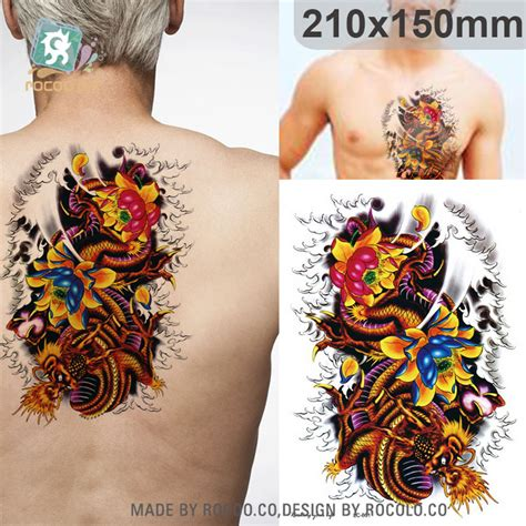 Lc853 Sketch Handsome Zhao Yun Painting Temporary Tatto Sticker get cheap cool car tattoos aliexpress alibaba