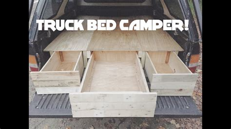 diy truck cap bed camper part  youtube