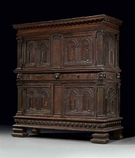 AN ITALIAN RENAISSANCE WALNUT CABINET , 16TH CENTURY, WITH