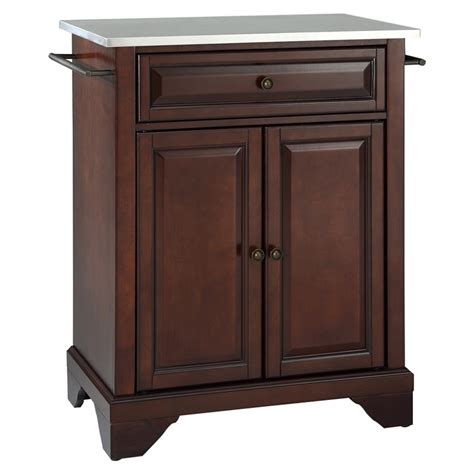 stainless steel portable kitchen island intended for home lafayette kitchen island stainless steel top portable