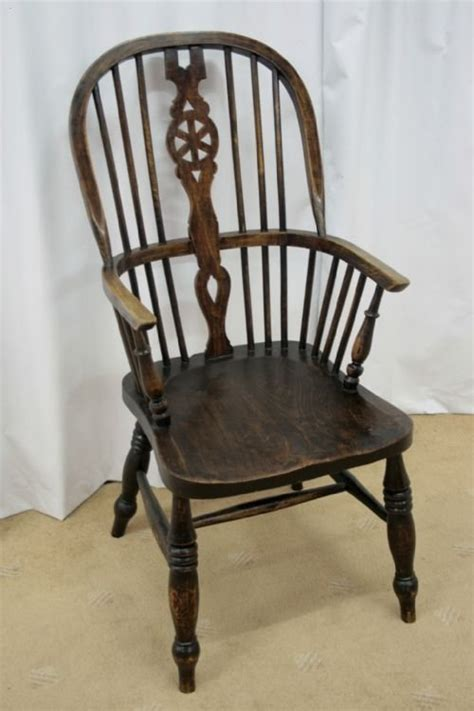 high back windsor armchair high back oak windsor armchair 90131 sellingantiques co uk