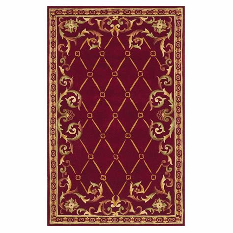 Home Decorators Collection Palisade Burgundy 4 Ft X 6 Ft 4 X 6 Area Rug