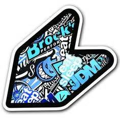 Jdm Sticker Thai Telur 4 quot jdm wakaba shoshinsha sticker bomb original new driver badge leaf sign car bumper