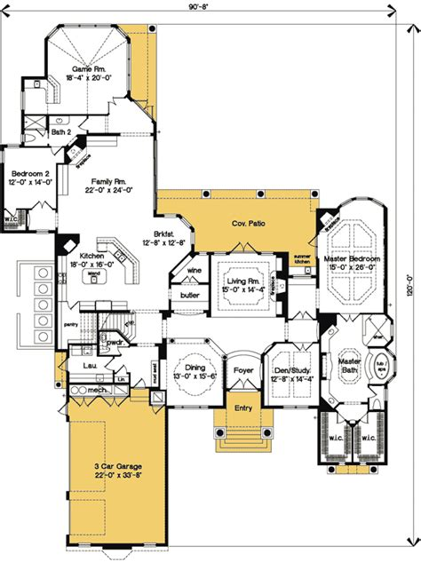 luxury master suite floor plans luxurious master bedroom suite 83379cl 1st floor