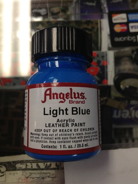 angelus paint royal blue angelus light blue acrylic leather paint 1 fl oz jwong