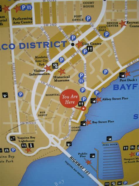 map of oregon newport newport historic bay front map newport oregon you