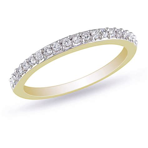 1 4 carat t w stackable ring in 10kt yellow gold