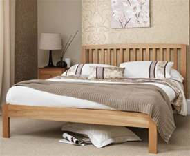 Small Bed Frame Wooden Thornton Oak 4ft Small Bed Frame Just 4ft Beds