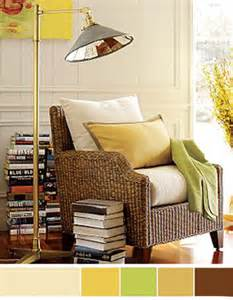 Brown Home Decor interior color schemes yellow green spring decorating