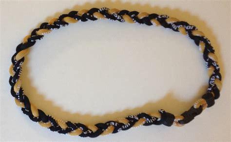 T01 218 Titanium Necklaces black and yellow titanium germanium necklace dph custom pins
