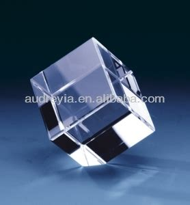3d laser etched glass cube blank cube for