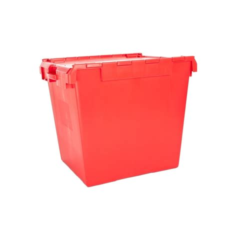 large plastic containers buy it1 large 165lt attached lid plastic container computer crate