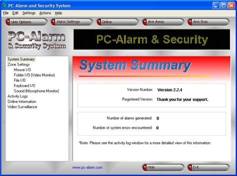 pc alarm and security system 2 2 10