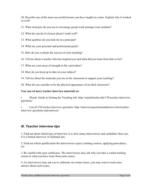 Early Childhood Education Questions Early Childhood Questions