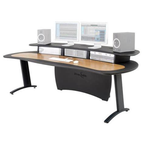 Pro Edit Desk by Aka Design Pro Edit Studio Desk Grey And Oak At