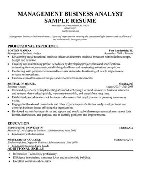 additional skills resume management analyst resume objective