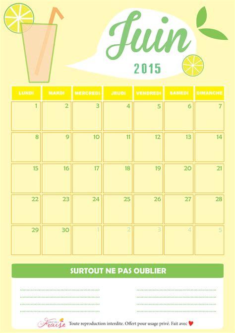 Calendrier 7 Mars 2015 Calendriers Mensuels Juin 2015 224 Imprimer Gratuit