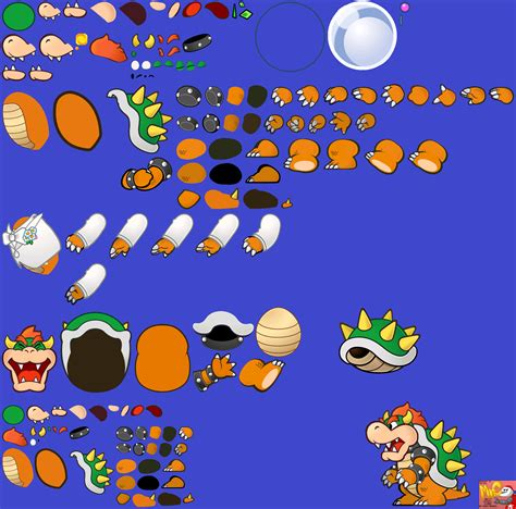 printable paper mario the spriters resource full sheet view super paper