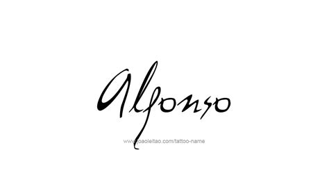 alfonso name tattoo designs