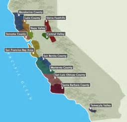 california wine growing regions map california wine country photos