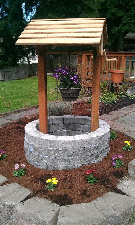 backyard well backyard garden wishing well i wish pinterest