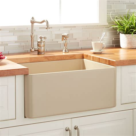 Fireclay Kitchen Sinks by 20 Quot Reinhard Fireclay Farmhouse Sink Beige Kitchen