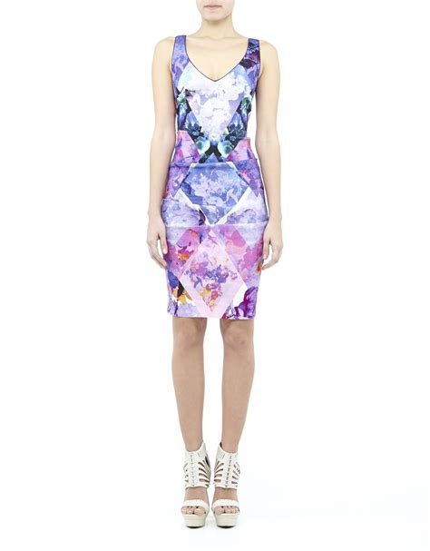 Petras Dress by Miller Blue Dress In Multicolor Purple