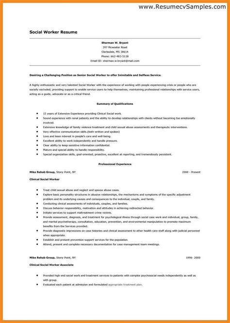 social work resume templates entry level social work resume resume exles