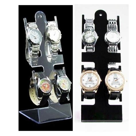Display Jam Tangan display aksesoris jam tangan akrilik isi 4 pajangan toko