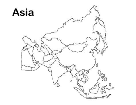printable world map asia blank map of asia to print