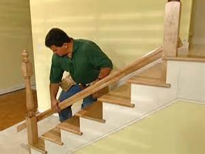 Stair Spindle Installation by How To Install New Stair Treads And Railings How Tos Diy