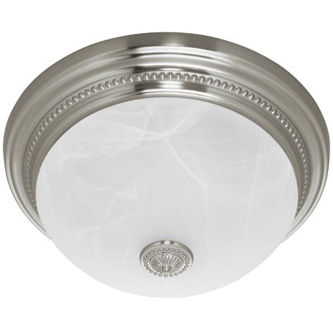 Fan Light For Bathroom by Harbor Breeze Quot Brushed Nickel Quot Bathroom Fan W Light