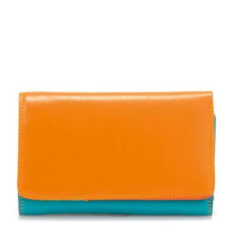 Zip Fold Wallet mywalit medium tri fold wallet outer zip portemonnee